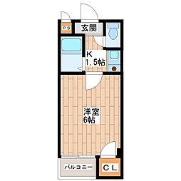 ツインコート平野II番館[4階]の間取り