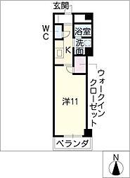 STATION池下[2階]の間取り