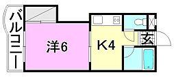 ハイツソレイユ[105 号室号室]の間取り
