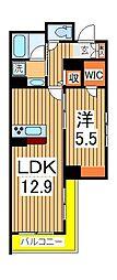 仮)柏の葉ホテルライクシャーメゾン 2階1LDKの間取り