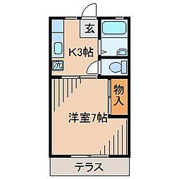 吉村ハイツA棟[102号室]の間取り