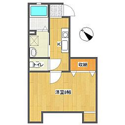 apartment IN EAST[1階]の間取り