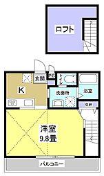 LA・KANA[2階]の間取り
