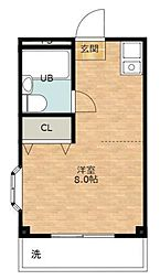 サンキャッスル深井[3階]の間取り