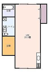 JR東海道本線 島田駅 バス49分 榛原高校入口下車 3.2kmの賃貸一戸建て 1階ワンルームの間取り