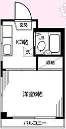神奈川県相模原市南区桜台の賃貸マンションの間取り