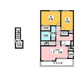 アンソレイエIII[2階]の間取り