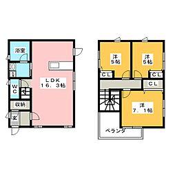 [一戸建] 岡山県岡山市北区厚生町3丁目 の賃貸【/】の間取り