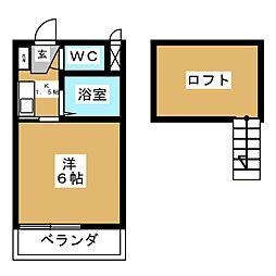 ル・クールK1[1階]の間取り