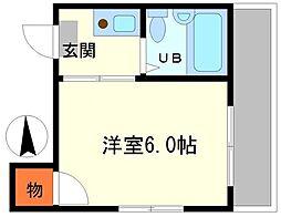 ヴィラタテヤマ[4階]の間取り