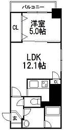 IK南六条レジデンス[803号室]の間取り