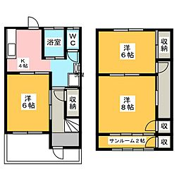 柿沼ハイツ2[1階]の間取り