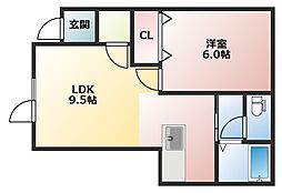 ドエル元町[2階]の間取り