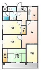 新栄第7ロイヤルマンション[8階]の間取り