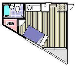 セフィール永山[203号室]の間取り