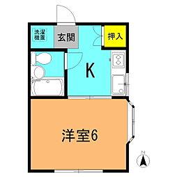 宮松町アパート[201号室]の間取り