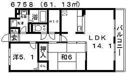 リヴィエール寺内町[203号室号室]の間取り