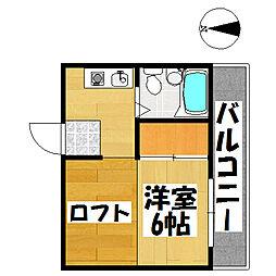 兵庫県神戸市垂水区美山台1丁目の賃貸アパートの間取り