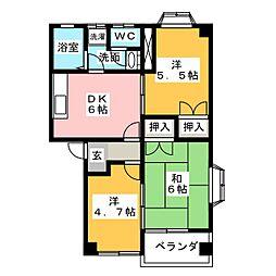 コーポリヨン[2階]の間取り