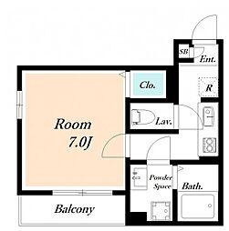 仮) 海楽2丁目D-ROOM計画[205号室]の間取り