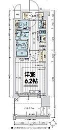 エステムコート新大阪XIIIニスタ 2階1Kの間取り
