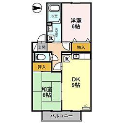 ヴィルクレール B棟[2階]の間取り