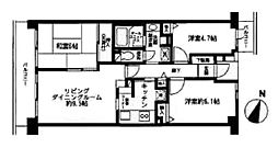 神奈川県横浜市戸塚区秋葉町の賃貸マンションの間取り