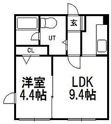 北海道札幌市豊平区平岸三条10の賃貸マンションの間取り