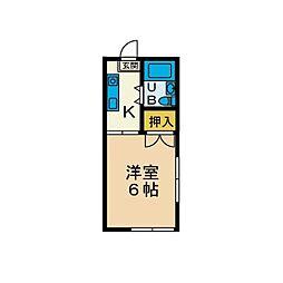 サンハイム妻田[1階]の間取り
