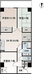 神奈川県横須賀市武4丁目の賃貸マンションの間取り