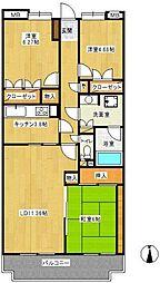 WING東戸塚(ウィングヒガシトツカ)[1階]の間取り