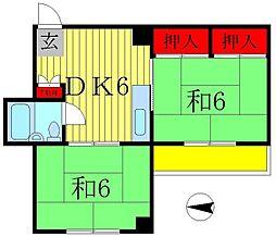 ジュネパレス新松戸第07[5階]の間取り