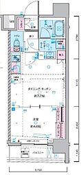 JR総武線 浅草橋駅 徒歩5分の賃貸マンション 7階1DKの間取り
