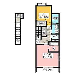 REA信[2階]の間取り