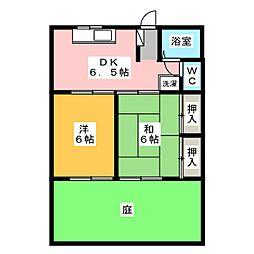 シノザキコーポ[1階]の間取り