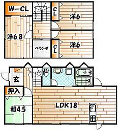 [一戸建] 福岡県北九州市戸畑区正津町 の賃貸【/】の間取り