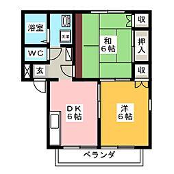 エステートピア三澤A[2階]の間取り