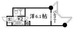 デトムワン二条城南[9階]の間取り