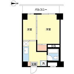 椎山マンション[702号室]の間取り