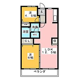ボナールU[1階]の間取り