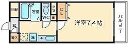 コージーコート新大阪[6階]の間取り