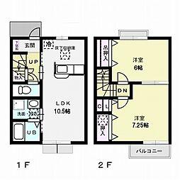 バロンドール[2階]の間取り