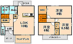 [テラスハウス] 兵庫県伊丹市鴻池6丁目 の賃貸【/】の間取り