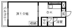 メゾンフルール[A305号室]の間取り