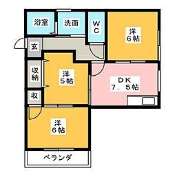 本町アパートII[2階]の間取り