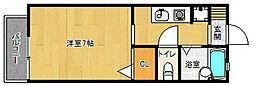 京都府京都市右京区山ノ内中畑町の賃貸アパートの間取り