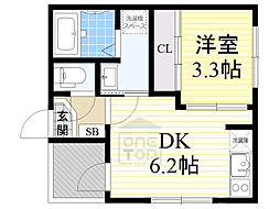 Osaka Metro谷町線 千林大宮駅 徒歩8分の賃貸アパート 2階1DKの間取り