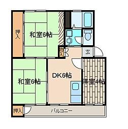 京王淵野辺マンション[5階]の間取り