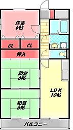 エムズコートソフィーナ 7階3LDKの間取り