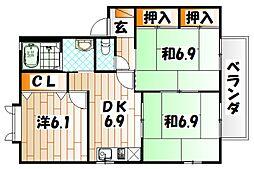 エティンセラー21B棟[2階]の間取り